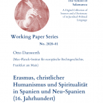 (English) Otto Danwerth: Erasmus, christlicher Humanismus und Spiritualität in Spanien und Neu-Spanien (16. Jahrhundert)